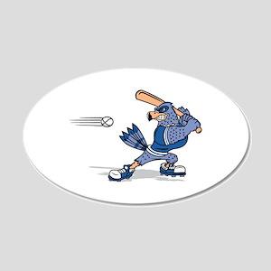 blue jay baseball 20x12 Oval Wall Decal