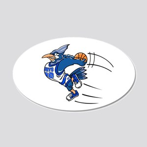 B is for blue jay 20x12 Oval Wall Decal