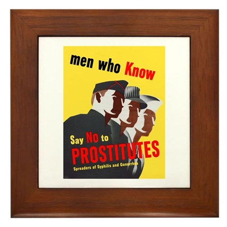 Say No to Prostitutes Framed Tile