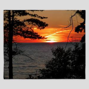 Lake Superior Sunset King Duvet