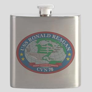 Uss Ronald Reagan Ships Logo Flask