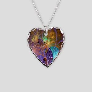 Dream Fantasy Garden Necklace Heart Charm