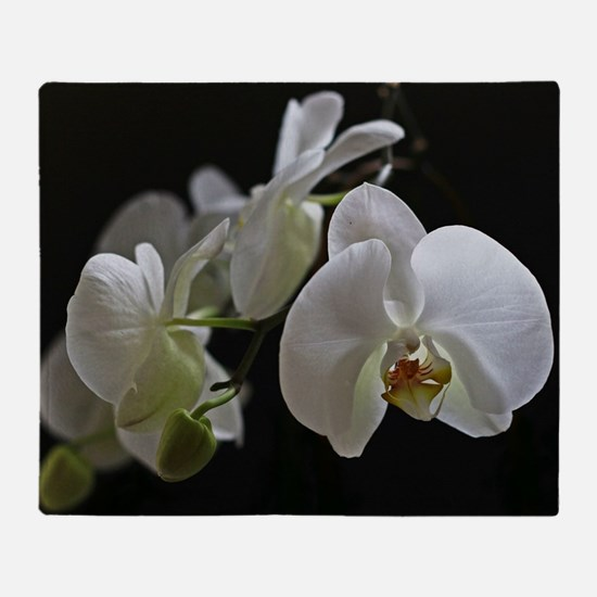 Cute Orchid Throw Blanket