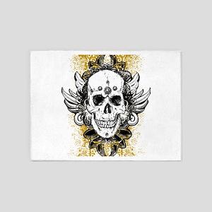Otantic Skull 5'x7'Area Rug