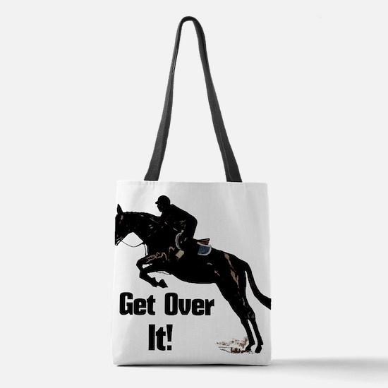 Get Over It! Horse Jumper Polyester Tote Bag