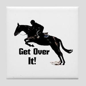 Get Over It! Horse Jumper Tile Coaster
