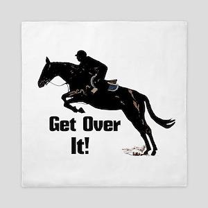 Get Over It! Horse Jumper Queen Duvet