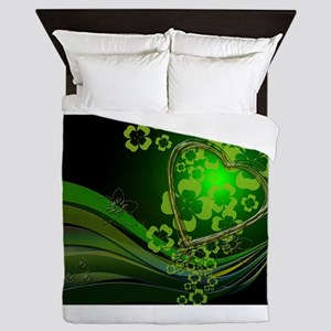 Heart And Shamrocks Queen Duvet