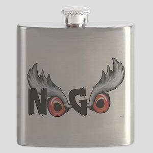 Northern Goshawk - Black Letters Flask