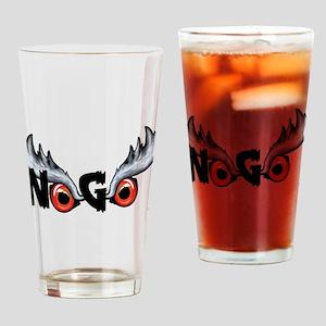 Northern Goshawk - Black Letters Drinking Glass