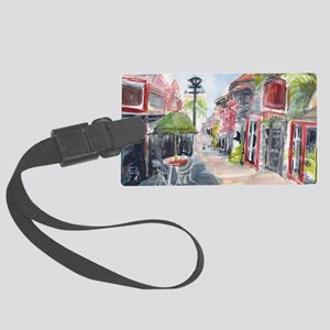 St Maarten Empty Street Large Luggage Tag