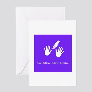 Ask Believe Allow Receive Gifts 2 Greeting Cards