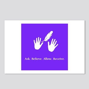 Ask Believe Allow Receive Gifts 2 Postcards (Packa