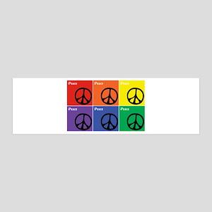 Multicolor iPeace Symbol 36x11 Wall Decal