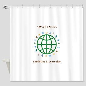 earth day awareness Shower Curtain