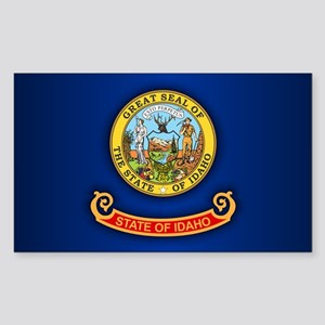Idaho Flag Sticker (Rectangle)