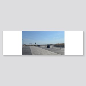 Atlantic City Boardwalk and Dunes Sticker (Bumper)