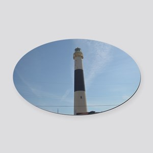 Absecon Lighthouse Oval Car Magnet