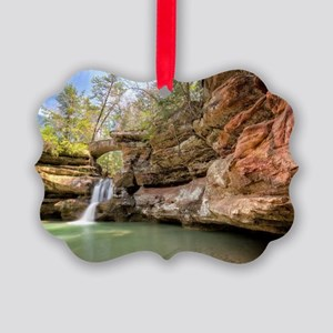 Hocking Hills Waterfall Picture Ornament