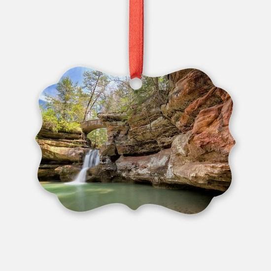 Hocking Hills Waterfall Ornament
