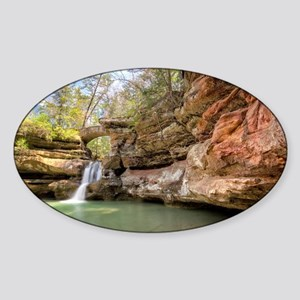 Hocking Hills Waterfall Sticker (Oval)