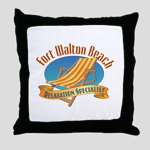 Fort Walton Beach - Throw Pillow