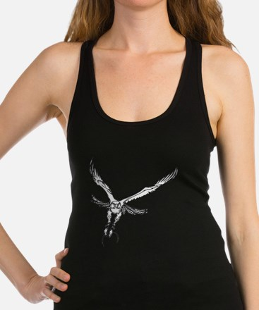 Funny Red tailed hawk design Racerback Tank Top