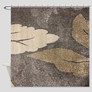 Neutral Leaf Shower Curtain