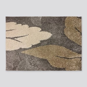 Neutral Leaf 5'x7'Area Rug