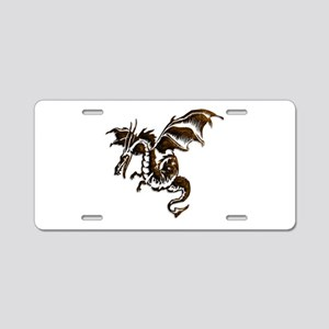 Bronze flying dragon Aluminum License Plate