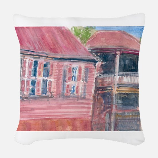 St Barth Homes Woven Throw Pillow