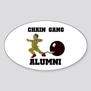 CHAIN GANG Oval Sticker