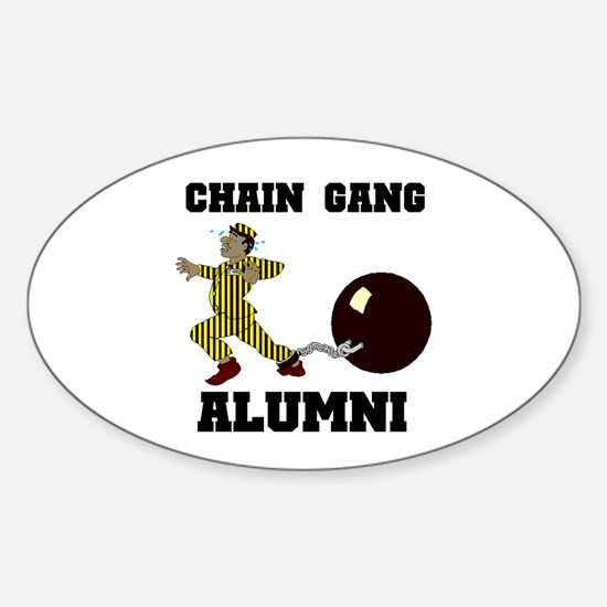 CHAIN GANG Oval Decal