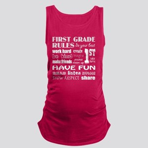 First Grade Classroom Rules Maternity Tank Top