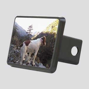Brittany Spaniel Hiking Rectangular Hitch Cover