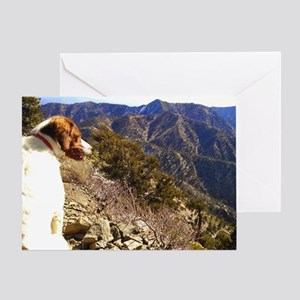 Hiking Dog Greeting Card