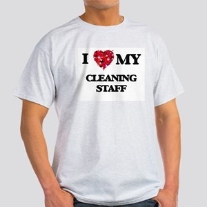 I love my Cleaning Staff hearts design T-Shirt