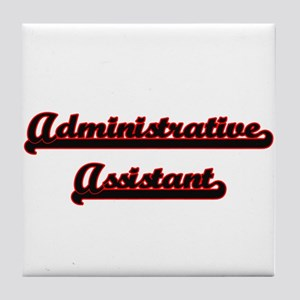 Administrative Assistant Classic Job Tile Coaster