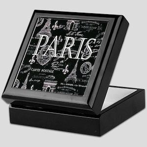 Paris Black and White Keepsake Box