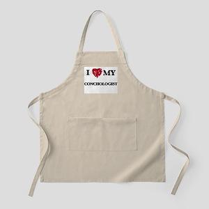 I love my Conchologist hearts design Apron
