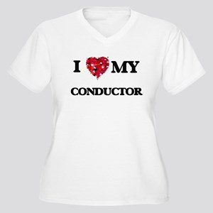 I love my Conductor hearts desig Plus Size T-Shirt