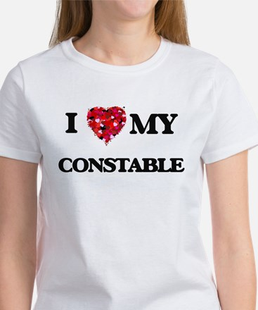 I love my Constable hearts design T-Shirt