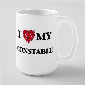 I love my Constable hearts design Mugs