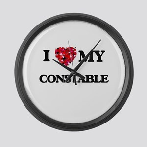 I love my Constable hearts design Large Wall Clock