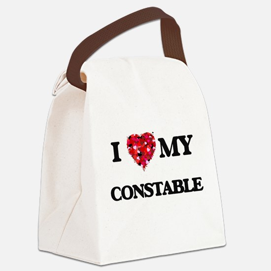 I love my Constable hearts design Canvas Lunch Bag