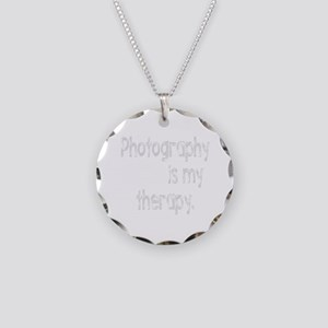 Photography is My Therapy Necklace Circle Charm