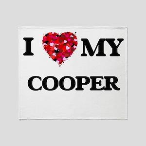 I love my Cooper hearts design Throw Blanket