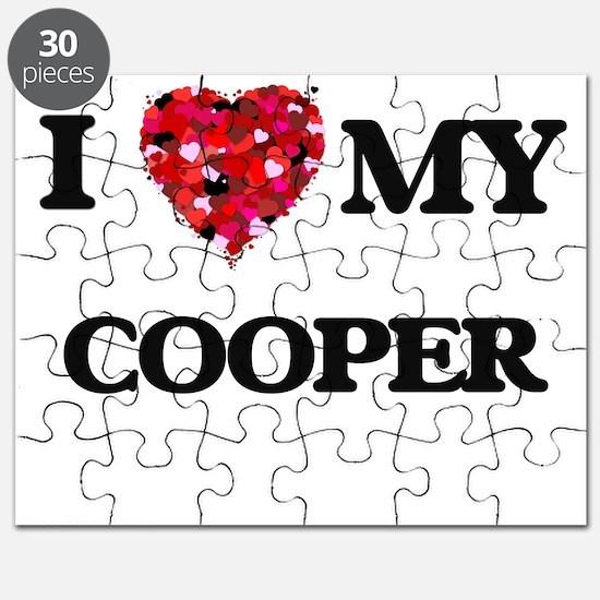 I love my Cooper hearts design Puzzle