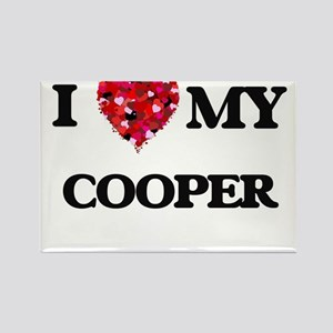 I love my Cooper hearts design Magnets