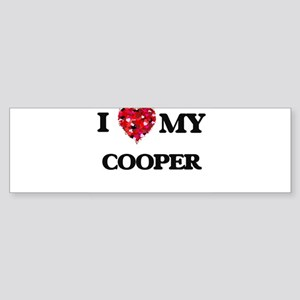 I love my Cooper hearts design Bumper Sticker